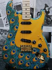 ~2019 NAMM Show Display #424~ MBS Peacock Stratocaster N.O.S. -Hand Painted Artwork by Sarah Gallenb
