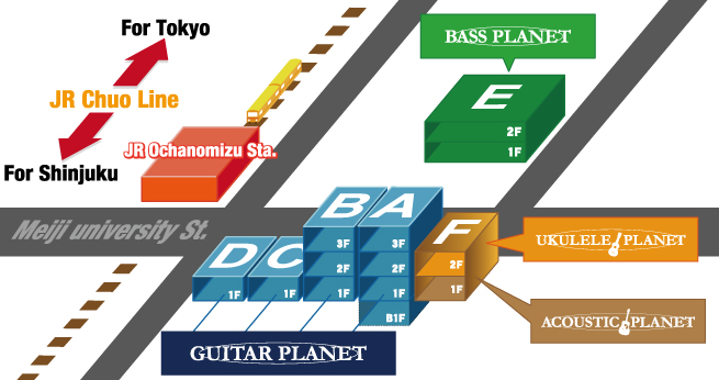 GUITAR PLANET shop map