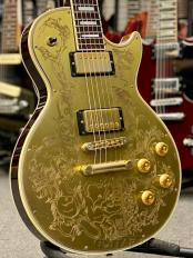 by Gibson LPC / Les Paul Custom ''YM 100TH'' -Brass Plate Top / Dark Back- 1991-1992年製 【Very Rare!!】